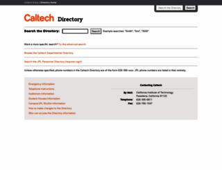 directory.caltech.edu screenshot
