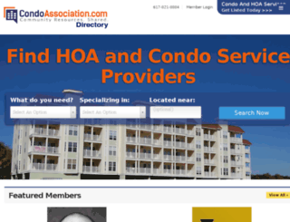 directory.condoassociation.com screenshot