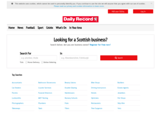 directory.dailyrecord.co.uk screenshot