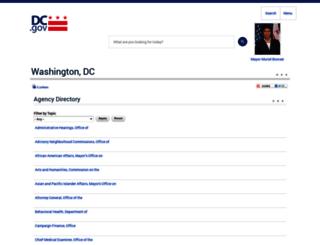 directory.dc.gov screenshot