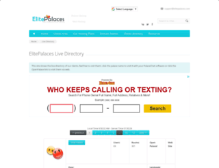 directory.elitepalaces.com screenshot