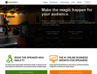 directory.espeakers.com screenshot