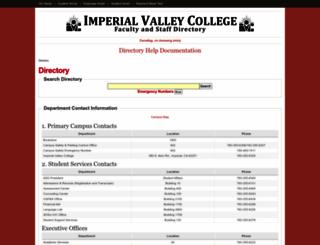 directory.imperial.edu screenshot