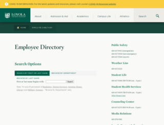 directory.loyola.edu screenshot
