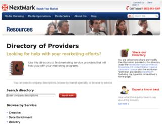 directory.nextmark.com screenshot