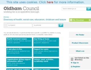 directory.oldham.gov.uk screenshot