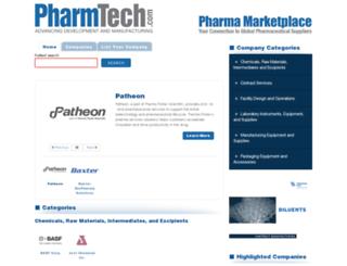 directory.pharmtech.com screenshot