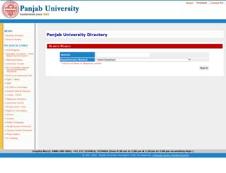 directory.puchd.ac.in screenshot