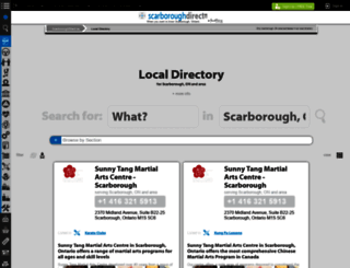 directory.scarboroughdirect.ca screenshot