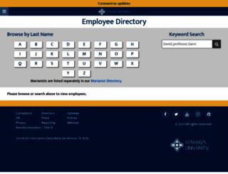 directory.stmarytx.edu screenshot