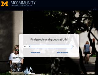 directory.umich.edu screenshot