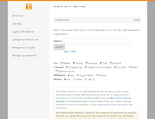 directory.utk.edu screenshot