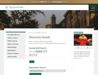 directory.wm.edu screenshot