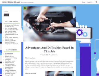 directoryspeaks.com screenshot