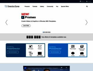 directorzone.cyberlink.com screenshot