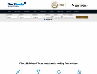 directtraveller.com screenshot