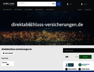 direktabschluss-versicherungen.de screenshot
