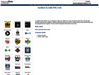 diretta.frequence-radio.com screenshot