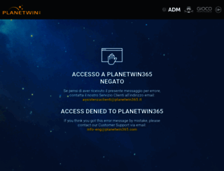 diretto.planet365win.com screenshot