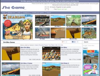 dirt-bike-games.shegame.com screenshot
