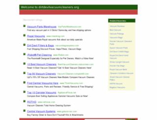 dirtdevilvacuumcleaners.org screenshot