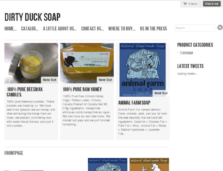 dirtyducksoap.ca screenshot