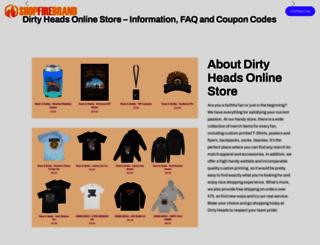 dirtyheads.shopfirebrand.com screenshot