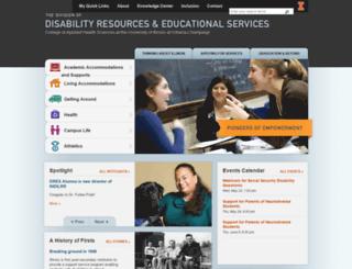 disability.illinois.edu screenshot