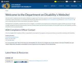 disability.lacity.org screenshot