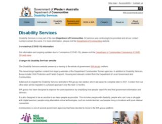 disability.wa.gov.au screenshot