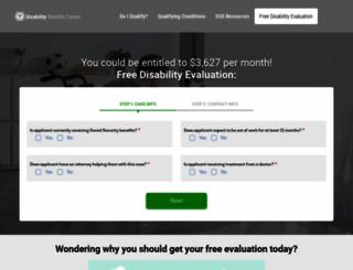 disabilitybenefitscenter.org screenshot