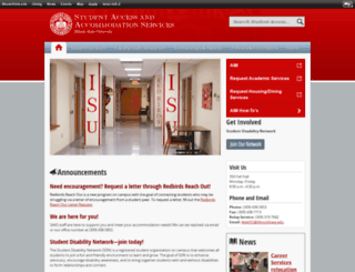 disabilityconcerns.illinoisstate.edu screenshot