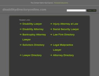 disabilitydirectoryonline.com screenshot