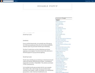 disablepopup.blogspot.com screenshot