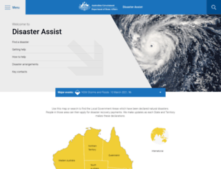 disasterassist.gov.au screenshot