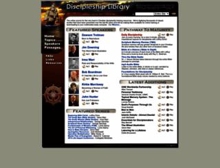 discipleshiplibrary.com screenshot