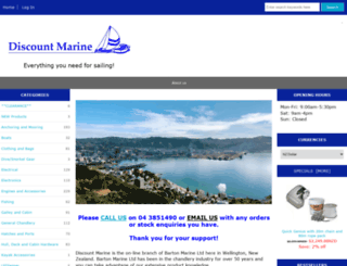 discount-marine.co.nz screenshot