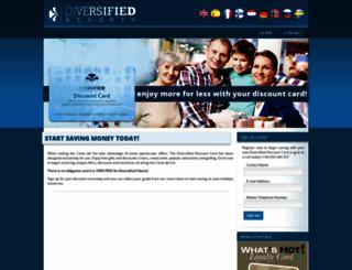 discount.diversifiedresorts.com screenshot