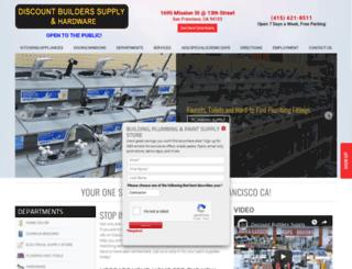 discountbuilderssupplysf.com screenshot