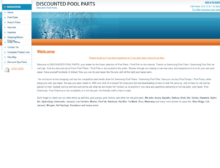 discountedpoolparts.com screenshot