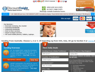 discountfreight.com.au screenshot