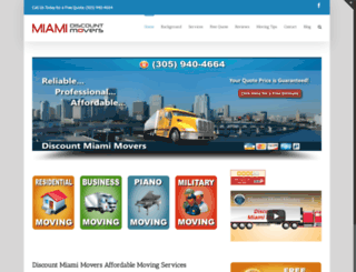 discountmiamimovers.com screenshot