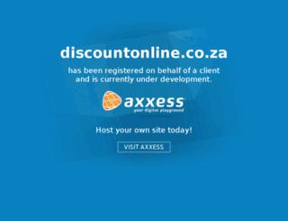 discountonline.co.za screenshot