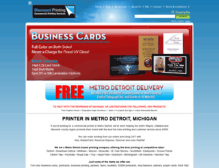 discountprintingdetroit.3dcartstores.com screenshot