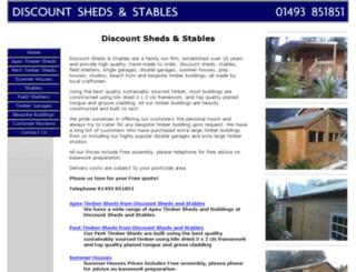 discountshedsandstables.co.uk screenshot