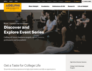 discover.adelphi.edu screenshot