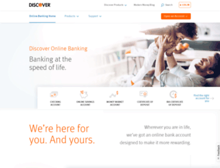discoverbank.com screenshot