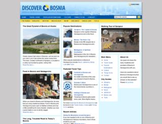 discoverbosnia.com screenshot