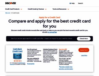 discovercard.com screenshot
