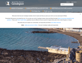 discoverceredigion.co.uk screenshot